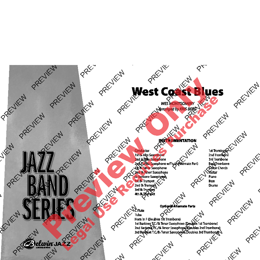 West Coast Blues Sheet Music by Wes Montgomery (SKU: 38686) - Stanton's  Sheet Music