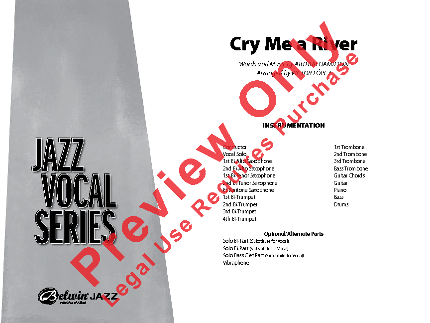 Cry Me A River Sheet Music by Victor Lopez (SKU: 41160) - Stanton\'s ...