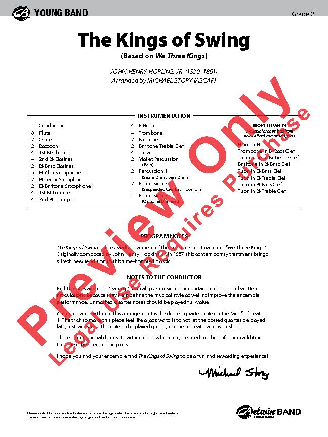 Kings of Swing Sheet Music by Michael Story (SKU: 43152) - Stanton's Sheet  Music